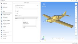 simFlow CFD software plane